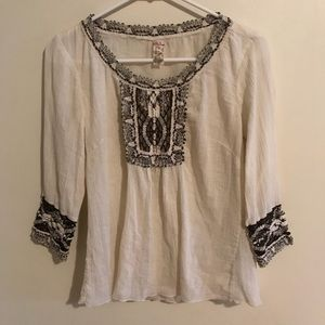 Free People 100% Cotton Peasant Top Size Small